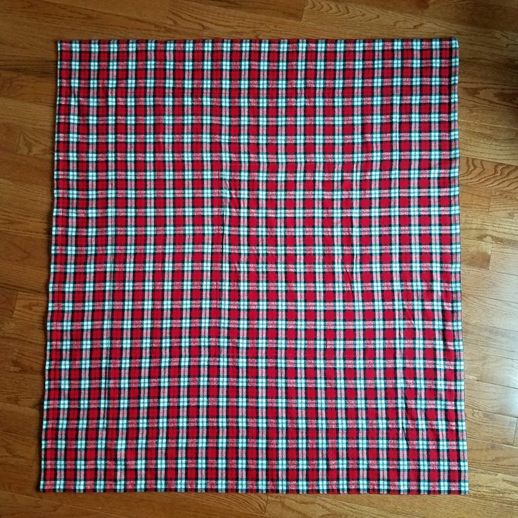 Back of the Flannel Quilt